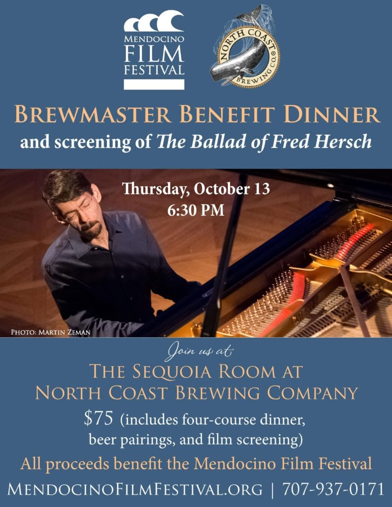 The Ballad of Fred Hersch screens at the Sequoia Room at North Coast Brewing Company on Thursday, October 13